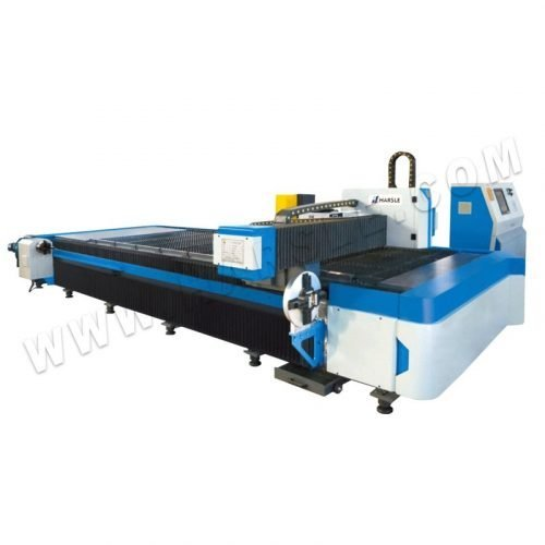 HARSLE metal plate and tube fiber laser cutting machine with rotary device